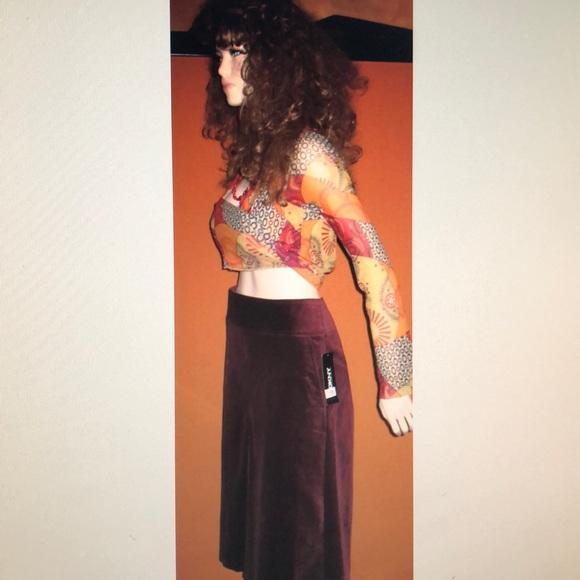 ab98980c9768ff Donna Karan Skirts | Nwt Dkny Burgundy Midi Skirt 4 | Poshmark